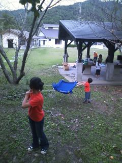 南郷町の栄松キャンプ場